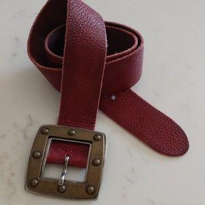 SISLEY merlot leather belt